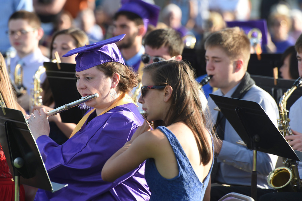 Description of . Kayla Rice/Reformer BUHS graduate Hannah Bailey plays the flute with the band at the BUHS graduation ceremony on Friday evening.