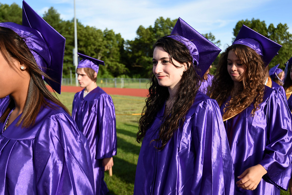 Description of . Kayla Rice/Reformer Graduating senior Maya Stoller files in with the rest of the class of 2014 during the BUHS graduation ceremony on Friday evening.
