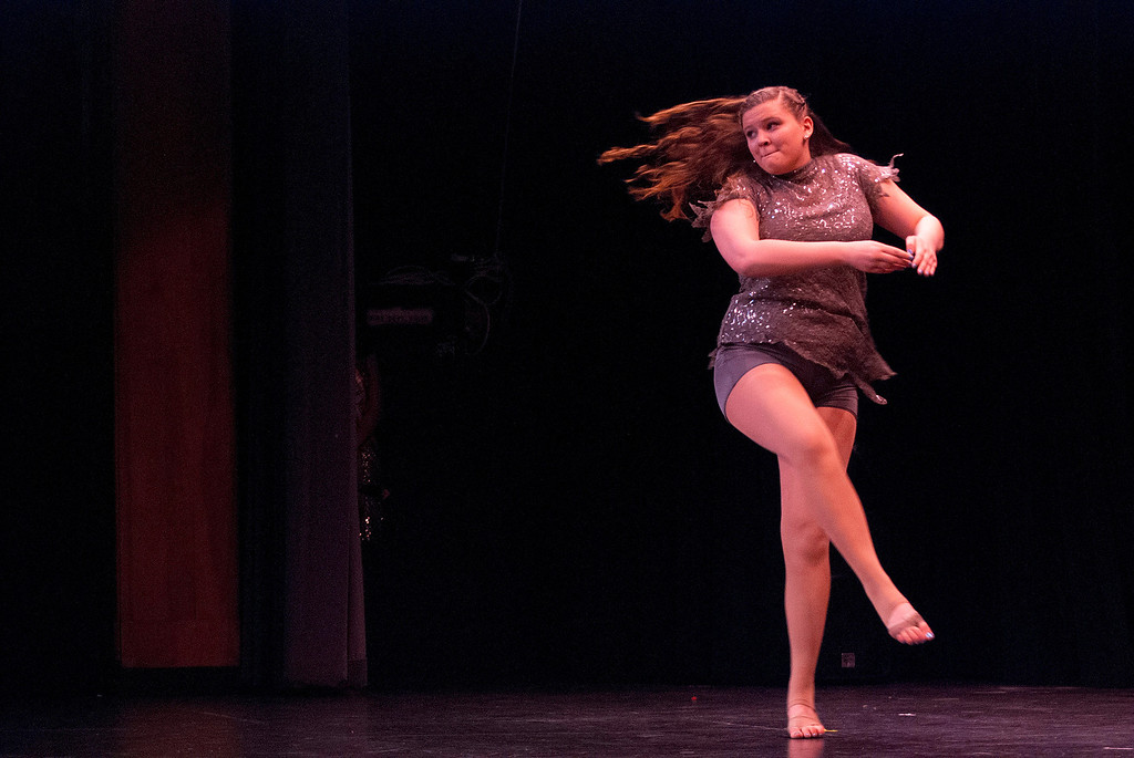 Description of . Kayla Rice/Reformer Taylor Wyckoff dances for the talent portion of the 2014 Brattleboro Winter Carnival's Queen's Pageant on Friday night.