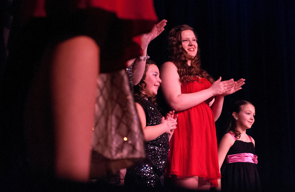 Description of . Kayla Rice/Reformer The 2014 queen and princess contestants are introduced at the Winter Carnival variety show on Tuesday evening.