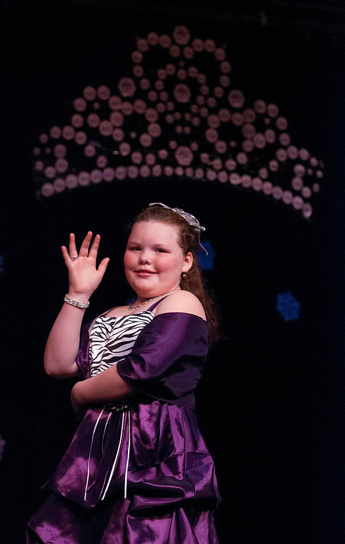 Description of . Kayla Rice/Reformer A princess pageant contestant is introduced during the 2014 Brattleboro Winter Carnival Queen's Pageant on Friday evening.