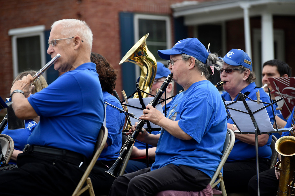 Description of . Kayla Rice/Reformer The Hinsdale Town Band performs in the Hinsdale Memorial Day parade on Monday morning.