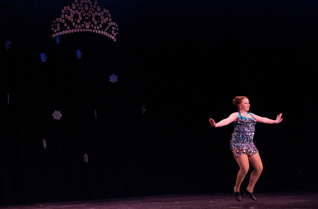 Description of . Kayla Rice/Reformer Katie Burroughs dances for the talent portion of the 2014 Brattleboro Winter Carnival's Queen's Pageant on Friday night.