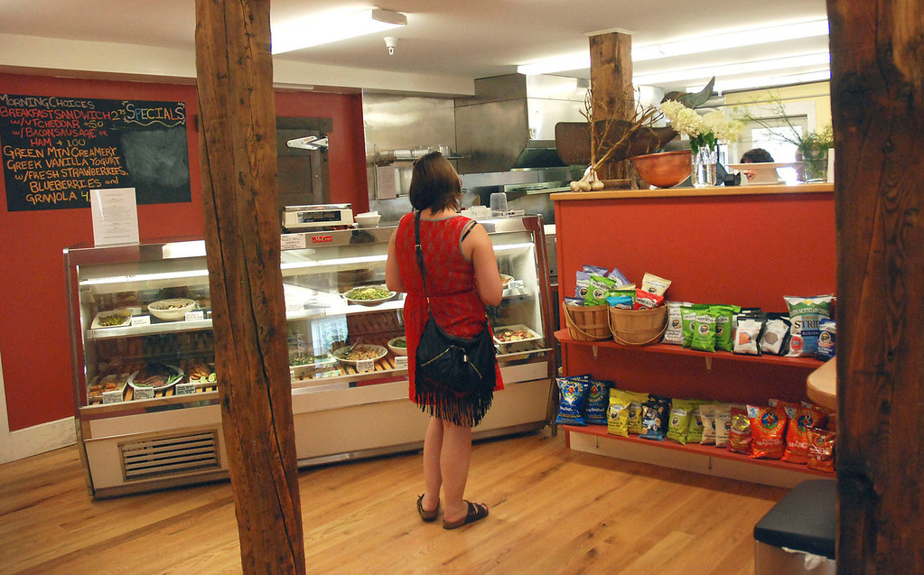 . Kayla Rice/Reformer                                Holly McCarrick of Guilford does some shopping at the Guilford Country Store.