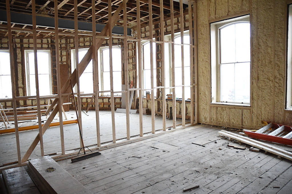 . Kayla Rice/Reformer Unfinished rooms inside the Brooks House in Brattleboro.