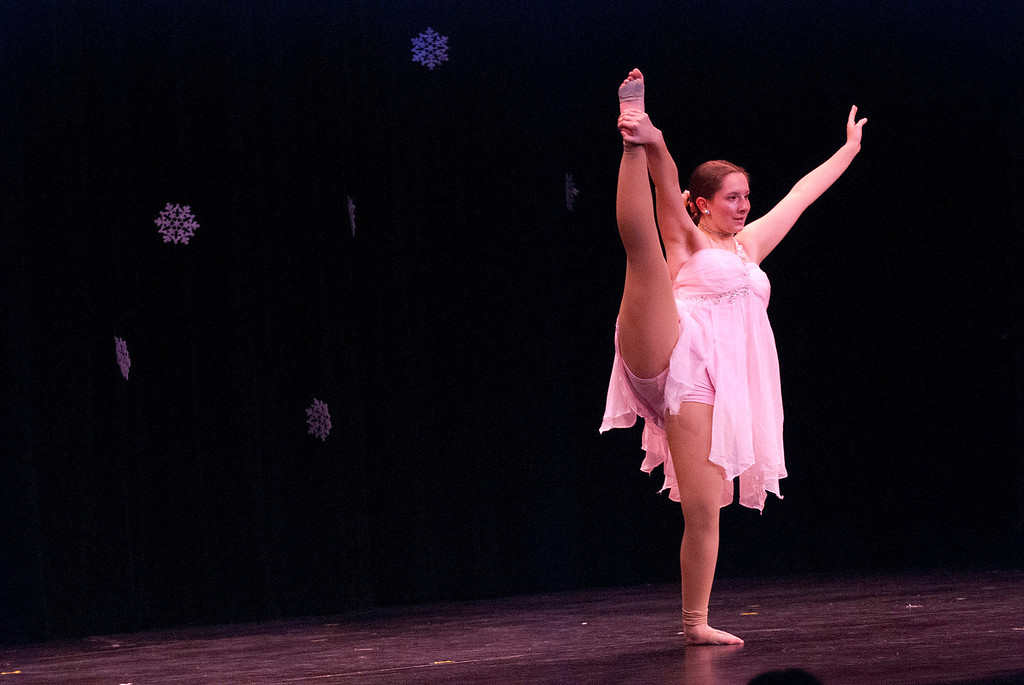 . Kayla Rice/Reformer Israel Cavanagh dances for the talent portion of the 2014 Brattleboro Winter Carnival\'s Queen\'s Pageant on Friday night.