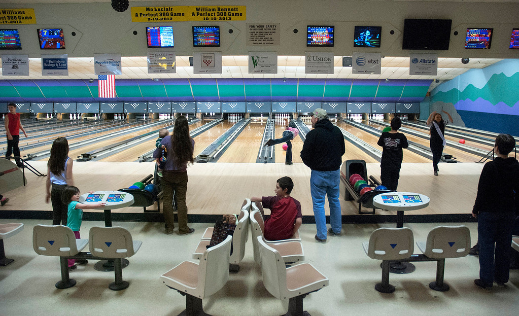 ". Kayla Rice/Reformer The Winter Carnival had its ""bowling day\"" at Brattleboro Bowl on Tuesday."