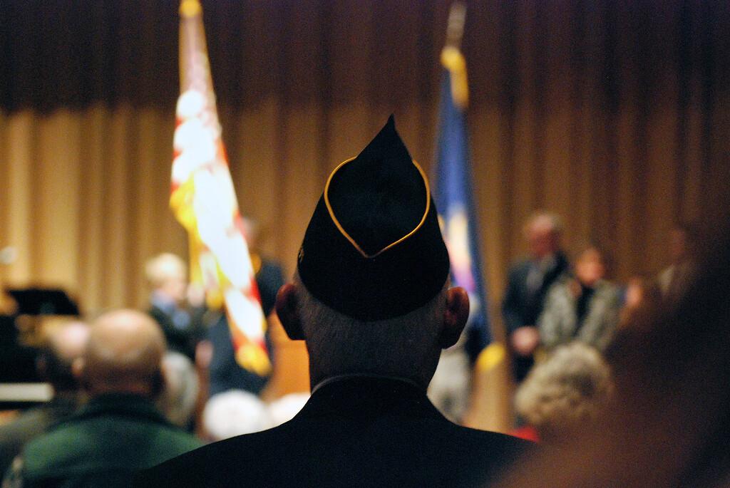 . Kayla Rice/Reformer A local veteran attends Kurn Hattin School\'s Eighteenth Annual Veterans Day Observance.