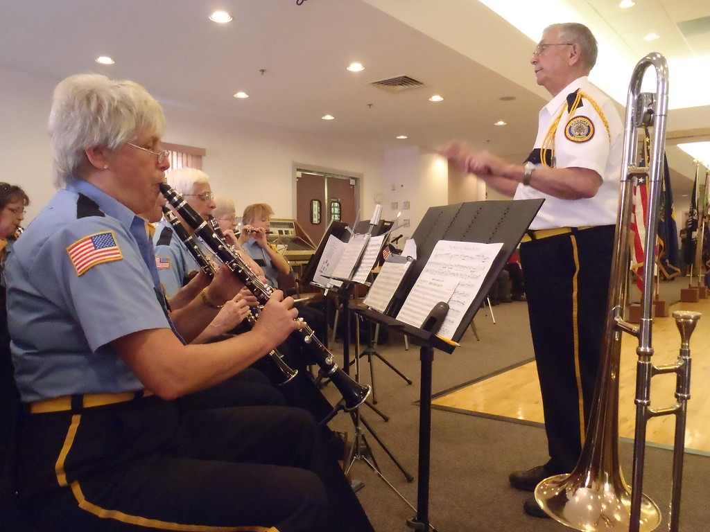 . Mike Faher/Reformer A Veterans Day ceremony was held at the Carl M Dessaint VFW Post 1034 in Brattleboro on Monday morning.