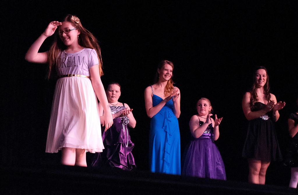 . Kayla Rice/Reformer The 2014 queen and princess contestants are introduced at the Winter Carnival variety show on Tuesday evening.